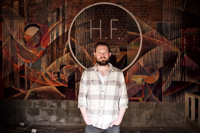 Joshua Mott, owner of Her Father's Cider Bar   Kitchen, is pictured on the site of his soon-to-be opened establishment in Toronto on Thursday, May 5, 2016. THE CANADIAN PRESS/Chris Young.