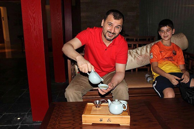 Canadian Salim Alaradi and his son, Mohamed Alaradi are shown on a family vacation in the United Arab Emirates in a 2013 family handout photo. A verdict is expected this week for Alaradi, a Canadian held in detention for nearly two years.