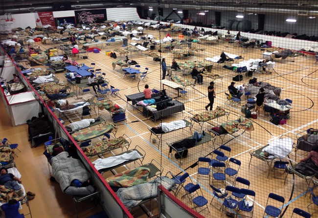 evacuation centre in Anzac