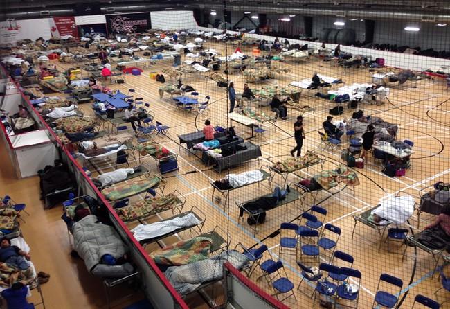 evacuation centre in Anzac