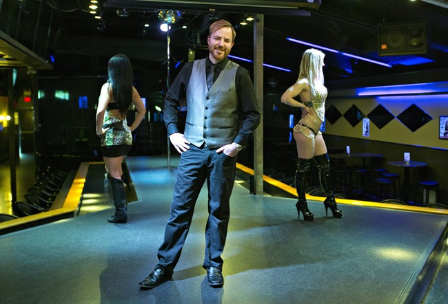 General Manager of ilovestrippers.com Chris Round pictured in Edmonton, Alta., on Wednesday, May 11, 2016.