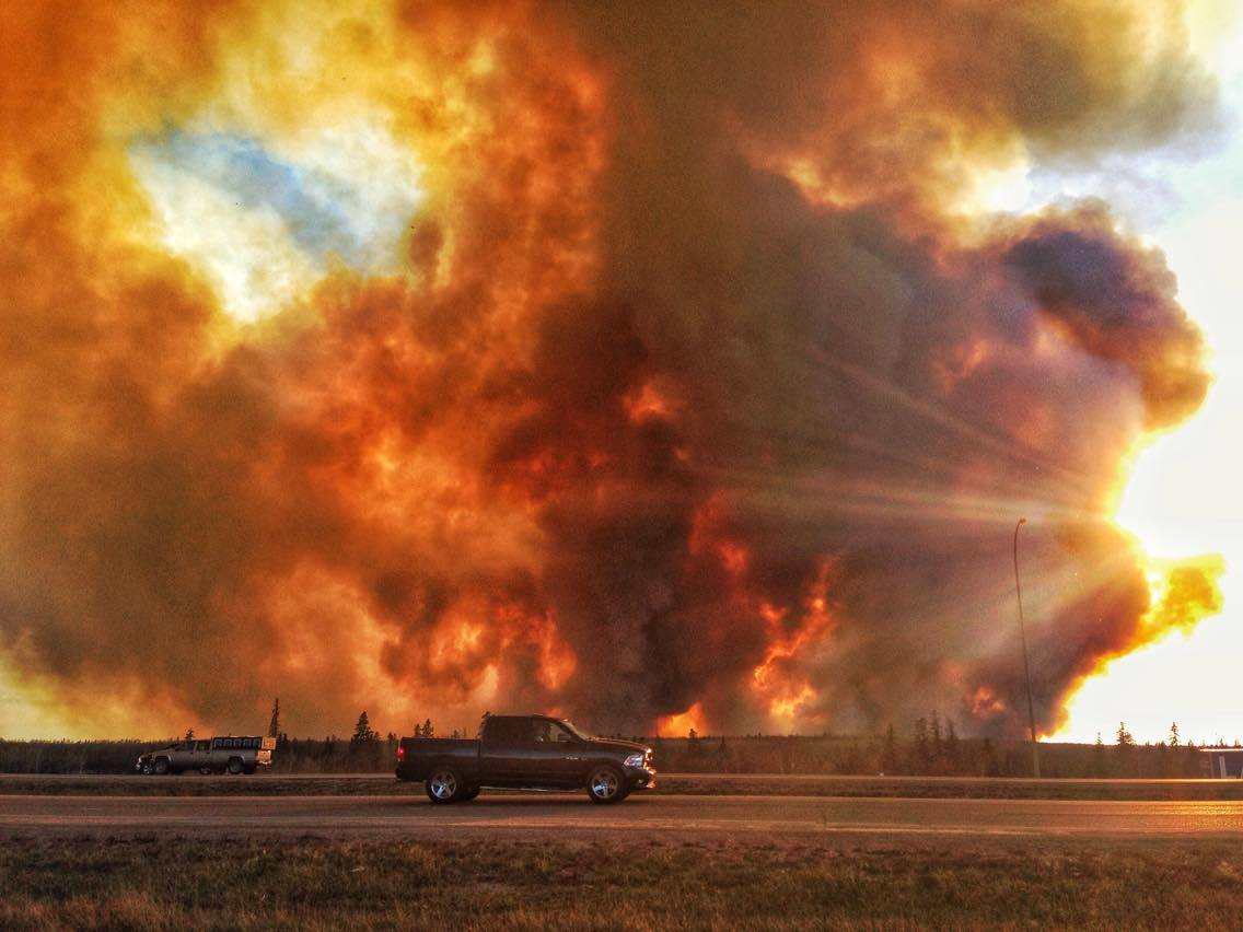 The wildfire burning near Fort McMurray, Alta. May 1, 2016.