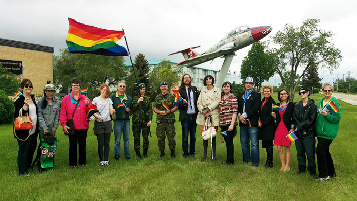 On Tuesday, 15 Wing Moose Jaw became the second Canadian Base to raise a rainbow flag.