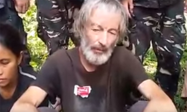 The militants released the video Tuesday showing fellow Canadian Robert Hall and two other hostages pleading for the Canadian and Philippine government to meet the demands of the terror group.