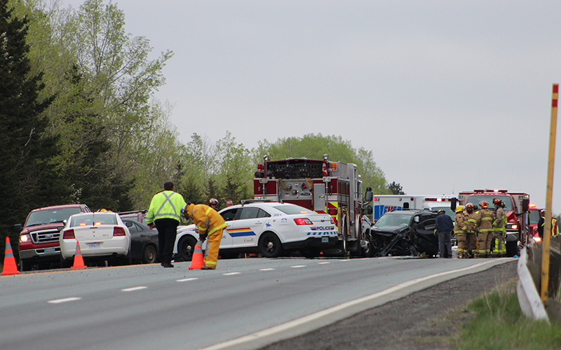 A multi-vehicle crash on Highway 104 near Pictou County, N.S.