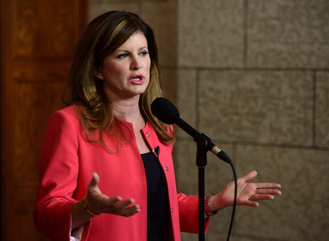 Interim Conservative Leader Rona Ambrose speaks to reporters following a caucus meeting on Parliament Hill in Ottawa on Wednesday, May 11, 2016.