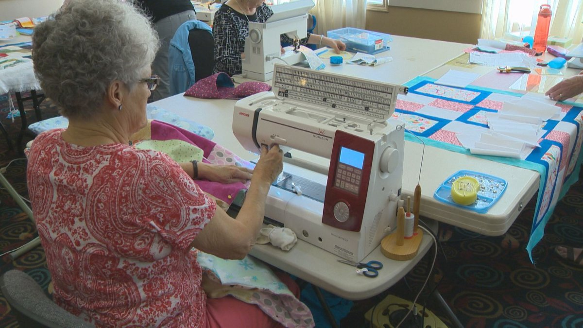 The Leduc Black Gold Quilt Patch club held a quilting marathon this weekend to make new quilts for Fort McMurray wildfire evacuees. May 15, 2016.