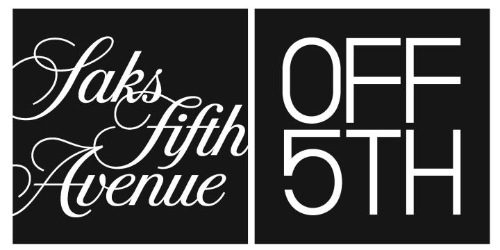The logo for Saks Off 5th is shown.