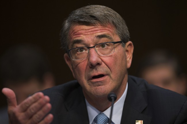 In this April 28, 2016 file photo, Defense Secretary Ash Carter testifies on Capitol Hill in Washington.