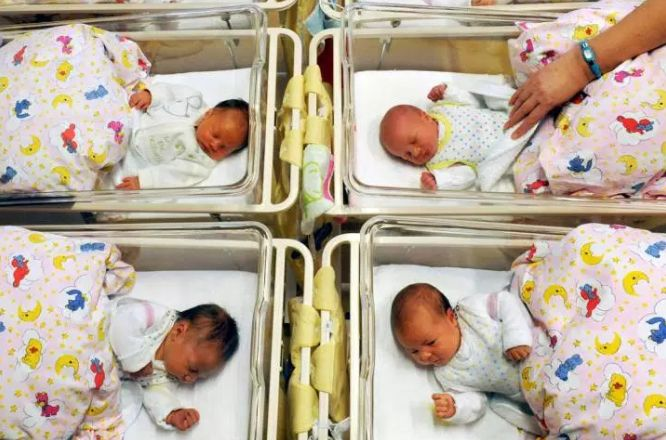 Babies are shown in a hospital in this file photo.