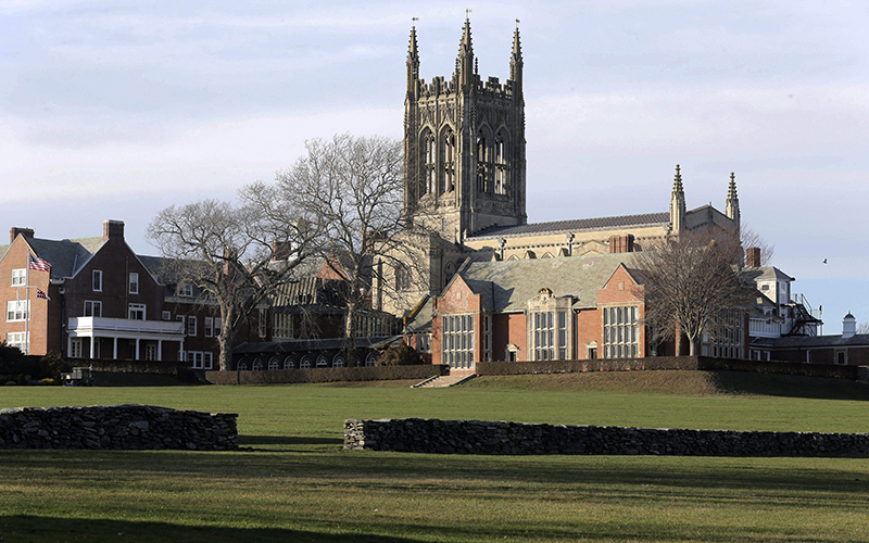 The campus at St. George's School in Middletown, R.I. More than 40 former students at the school alleged they were molested, mostly in the 1970s and '80s.