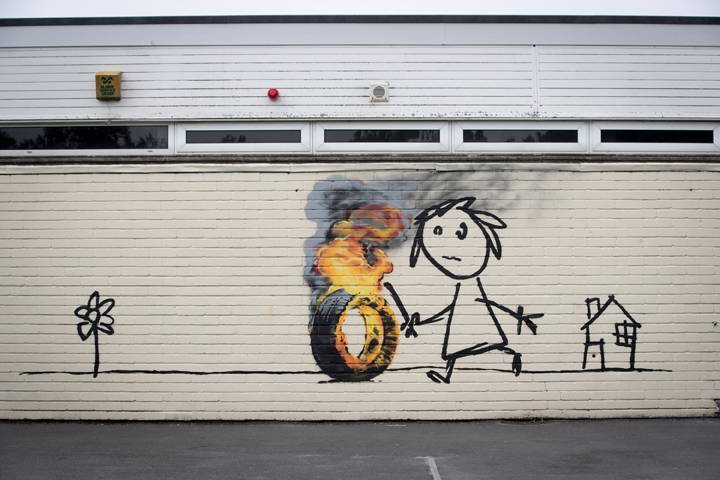 """This mural was accompanied by a note that read, """"Remember - it's always easier to get forgiveness than permission."""" Forgiveness may be better for your health, according to a new study."""