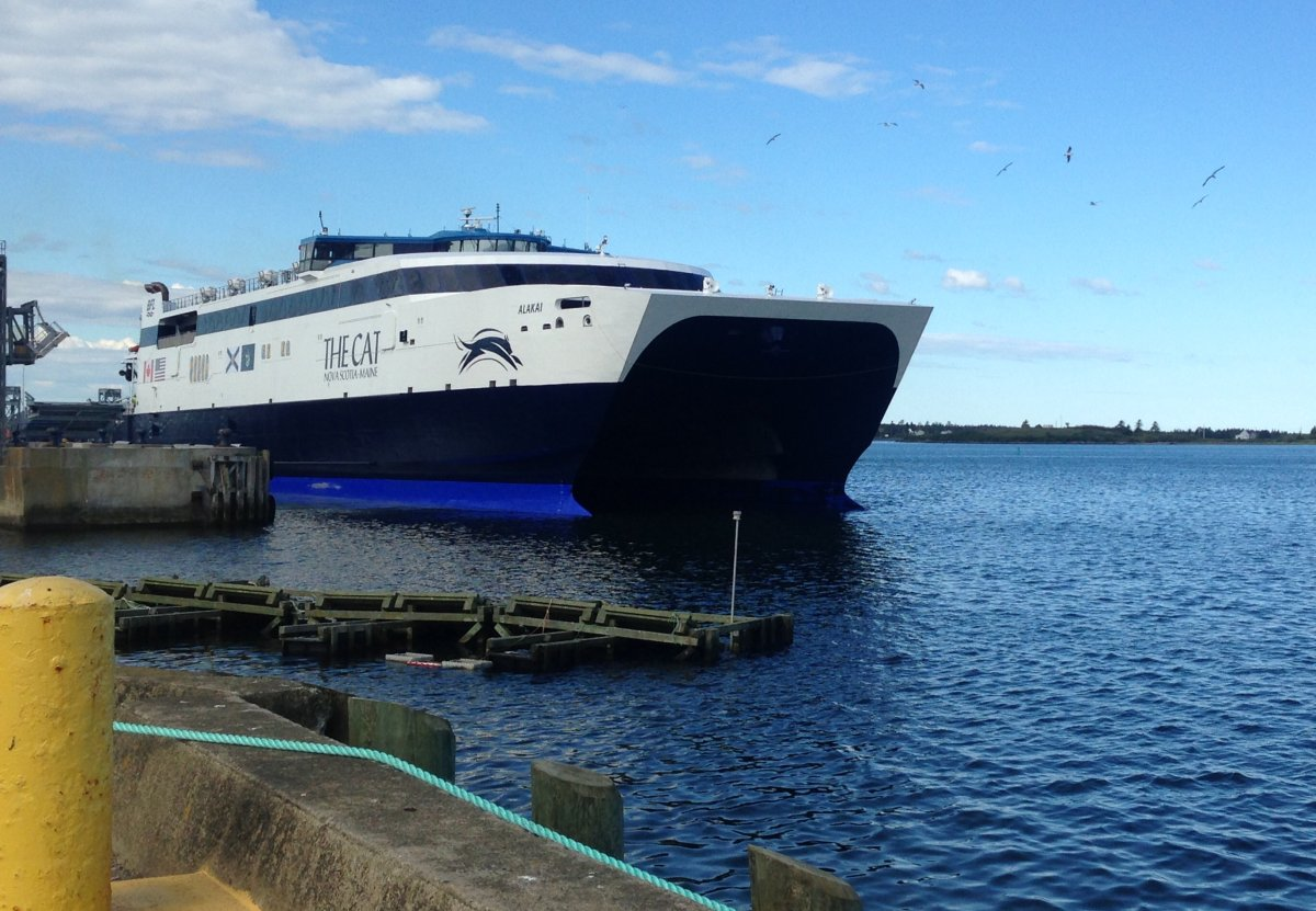 The CAT ferry leaves Yarmouth, N.S., for its maiden voyage to Portland, Maine. Bay Ferries chairman and CEO Mark MacDonald says the controversial contract to operate the ferry was the best deal for taxpayers.