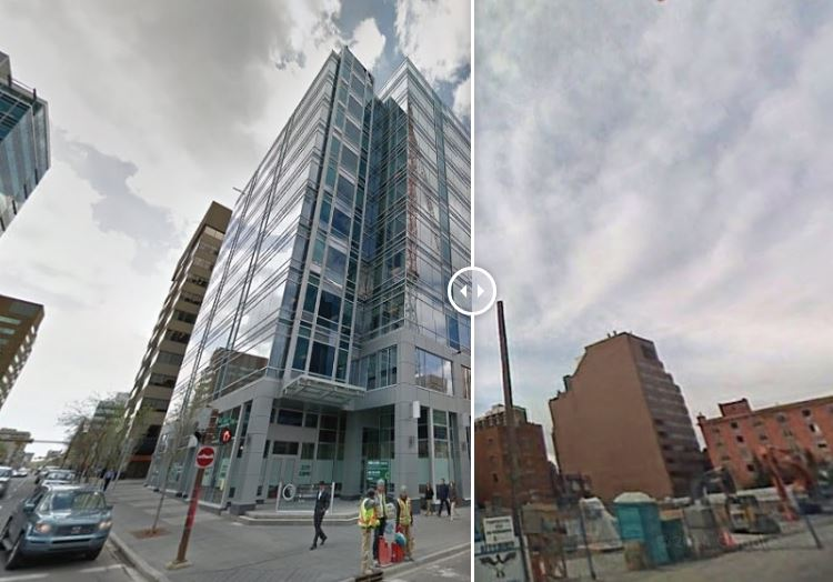 10-story office/retail development Centre 10 now replaces what was once the Gaslight Square retail strip in Calgary.