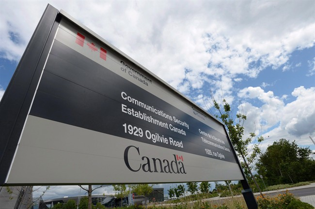 A sign for the Government of Canada's Communications Security Establishment (CSE) is seen outside their headquarters in the east end of Ottawa on July 23, 2015.