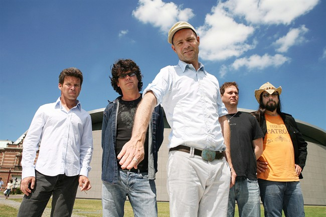 Members of The Tragically Hip (left to right) Gord Sinclair, Paul Langlois, Gord Downie, Johnny Fay and Rob Baker are shown in a handout photo.