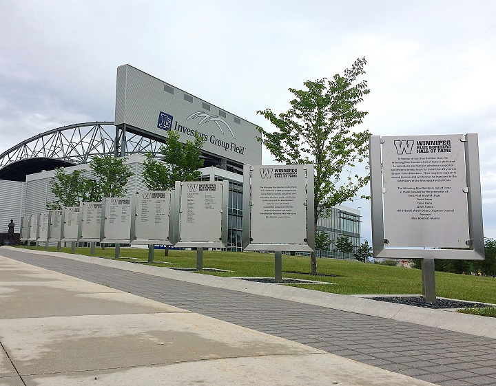 The names of linemen John Helton and Bob Molle as well as broadcaster Bob Irving will be added this season to the Winnipeg Blue Bombers Hall of Fame Walk outside Investors Group Field.