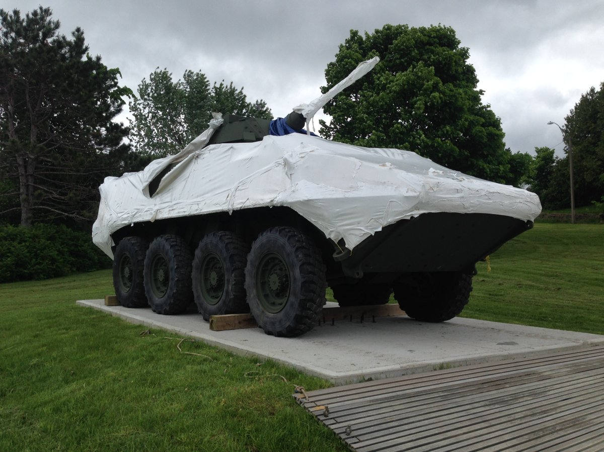 Canada's first LAV Monument placed in Oromocto NB.