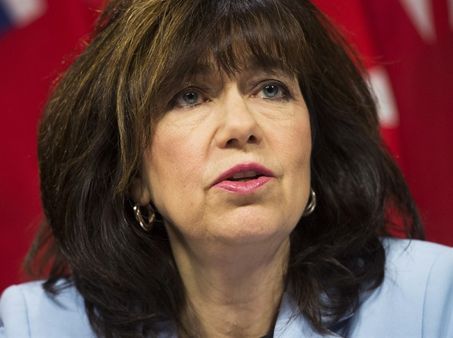 Auditor General Bonnie Lysyk speaks during a news conference in Toronto on Wednesday, June 8, 2016.
