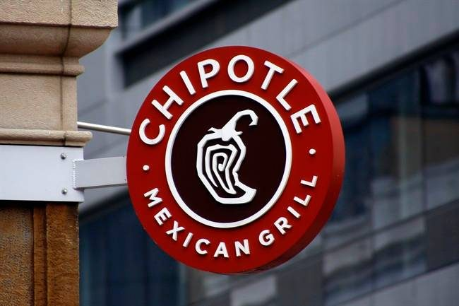FILE PHOTO: This Monday, Feb. 8, 2016, photo shows a sign for the Chipotle restaurant in Pittsburgh's Market Square.