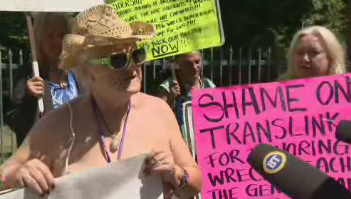 Nude protesters speak out against removal of bus stop near Wreck Beach - image