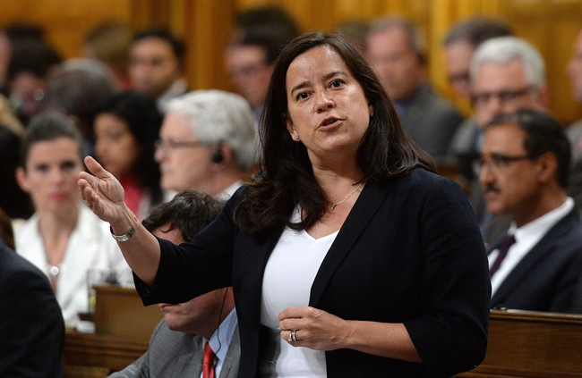 Minister of Justice and Attorney General of Canada Jody Wilson-Raybould responds to a question during question period in the House of Commons on Parliament Hill in Ottawa on Monday, June 6, 2016.