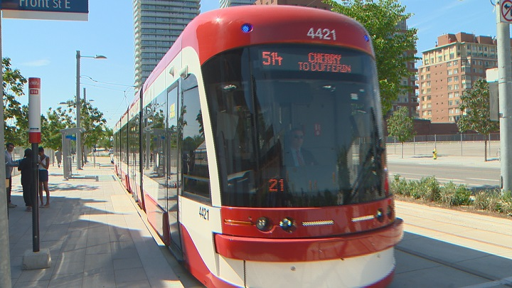 The 514 Cherry streetcar is seen on June 18, 2016.