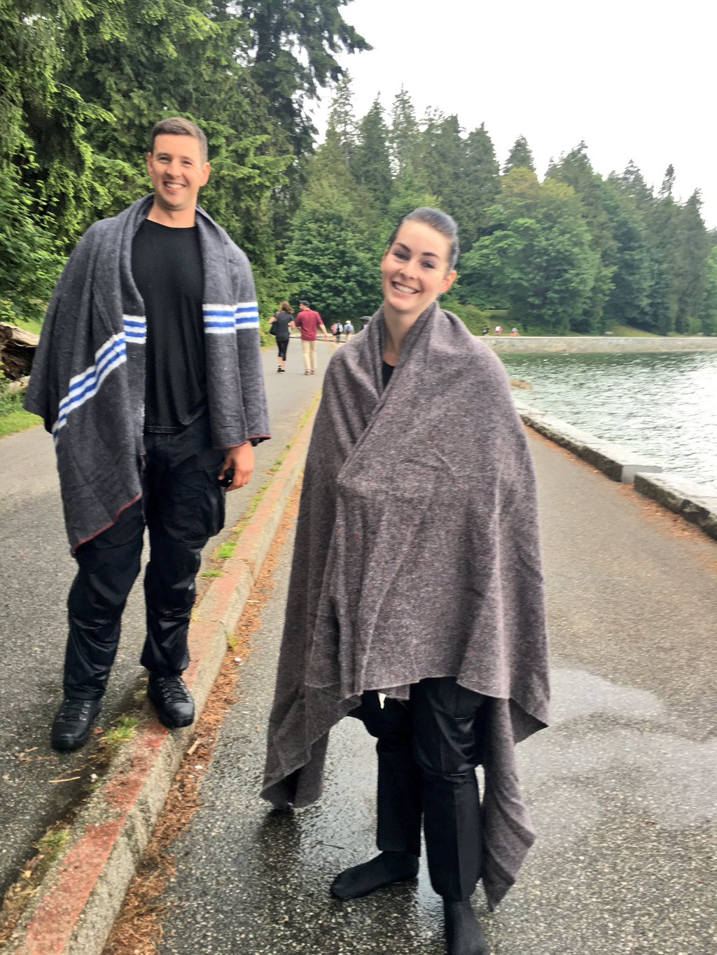 These two Vancouver Police officers dived into Burrard Inlet to save a man in distress.