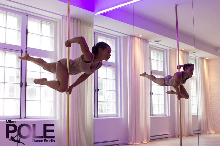 Jazzy Alix at Milan Pole Dance in Montreal.