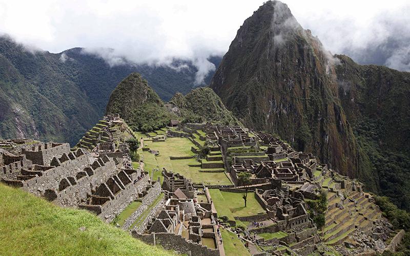 The citadel of Machu Picchu.