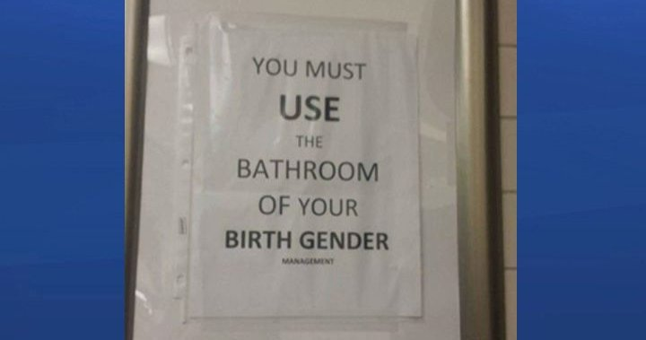 Alberta Bar S You Must Use Bathroom Of Your Birth Gender Sign Spurs Outrage Globalnews Ca