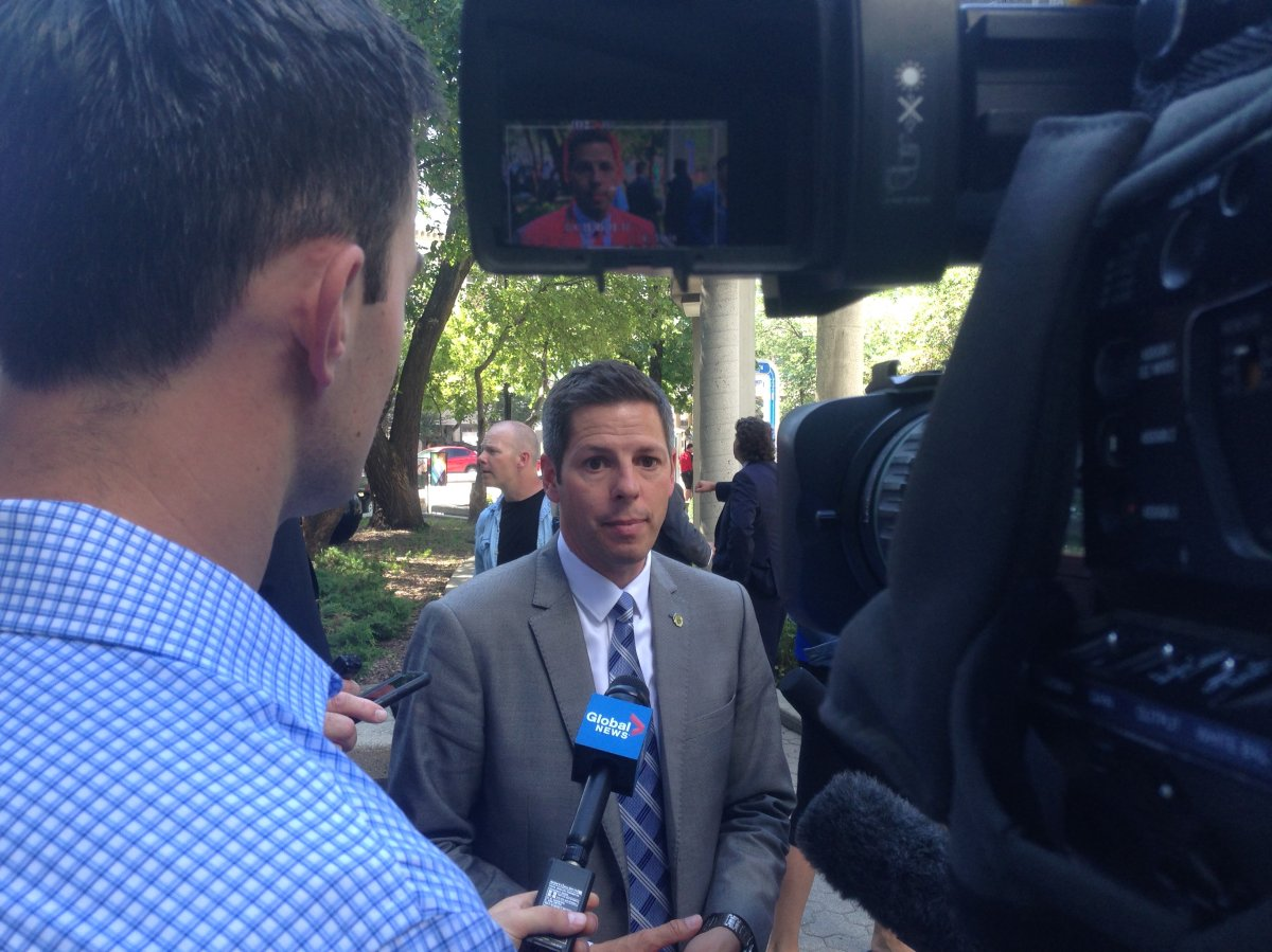 Mayor Brian Bowman announced the $150,000 investment in the CHAT program at a downtown event Wednesday morning.