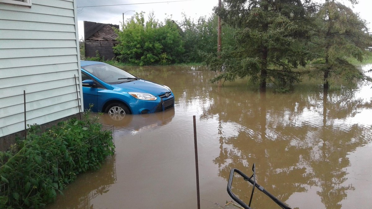 Flooding in Elfros.