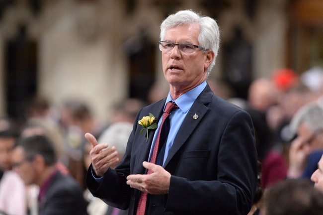 Natural Resources Minister Jim Carr responds to a question during question period in the House of Commons on Parliament Hill in Ottawa on Tuesday, May 10, 2016.