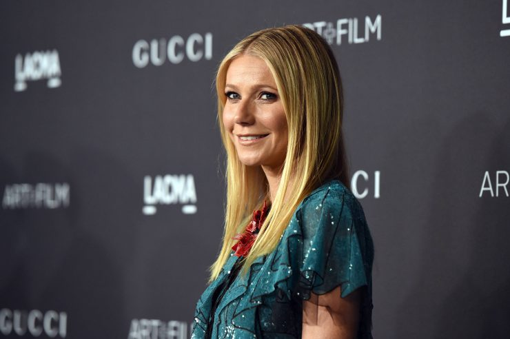 Actress Gwyneth Paltrow, wearing Gucci, attends LACMA 2015 Art+Film Gala Honoring James Turrell and Alejandro G Iñárritu, .