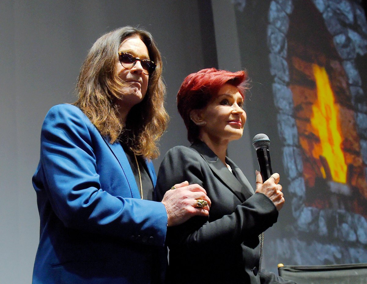 Singer Ozzy Osbourne of Black Sabbath and wife/manager Sharon Osbourne attend the Ozzy Osbourne and Corey Taylor special announcement at the Hollywood Palladium on May 12, 2016 in Hollywood, California.