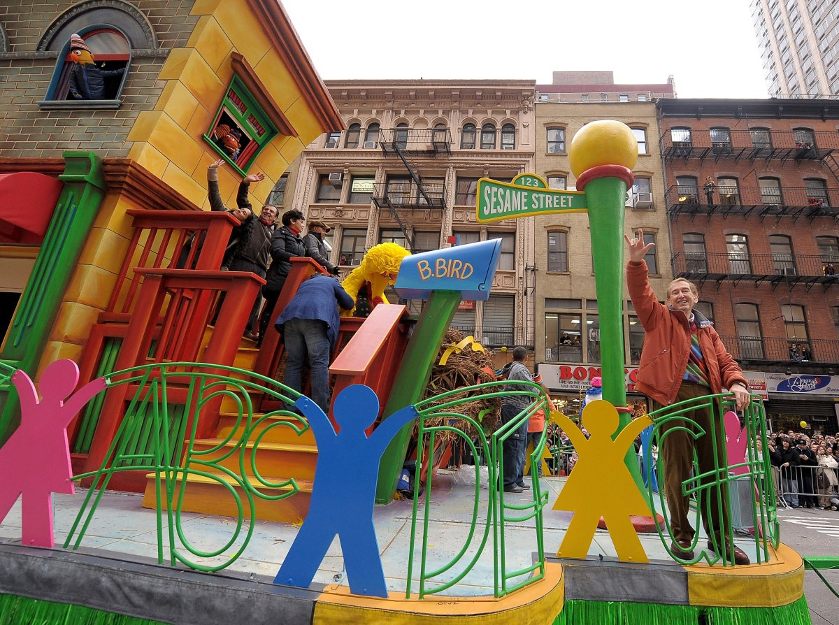 Sesame Street's Bob McGrath waves to the crowd while riding on a float during the 83rd annual Macy's Thanksgiving Day parade on the Streets of Manhattan on November 26, 2009 in New York City. Thanksgiving Day is celebrated in Canada and the United States and traditionally it is a time to give thanks for the harvest.
