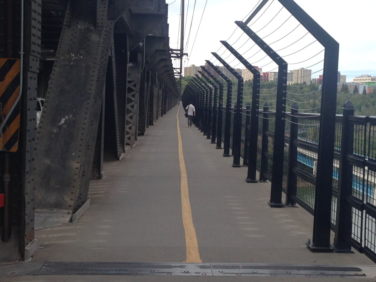 Edmonton's High Level Bridge safety barriers.