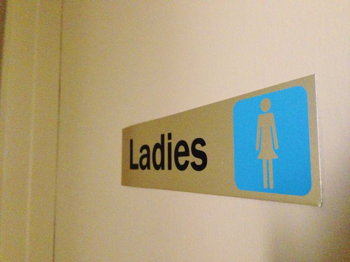Ladies washroom sign