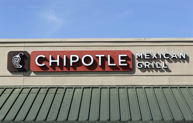 A file photo of Chipotle signage.