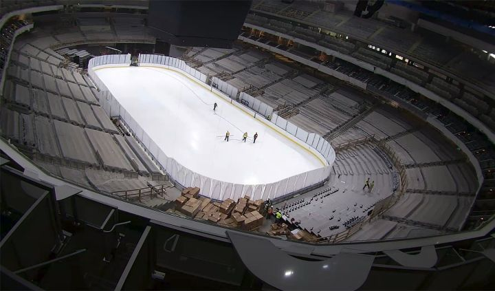 The ice at Rogers Place.