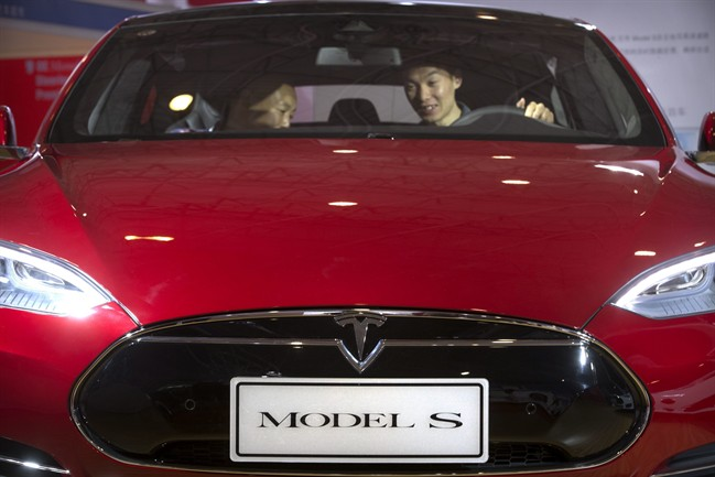Tesla's Model S has a feature that allows it to drive on autopilot.