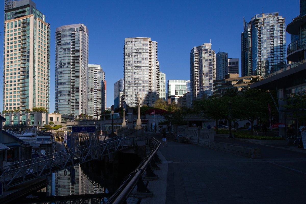 Condos in Vancouver's Coal Harbour area.
