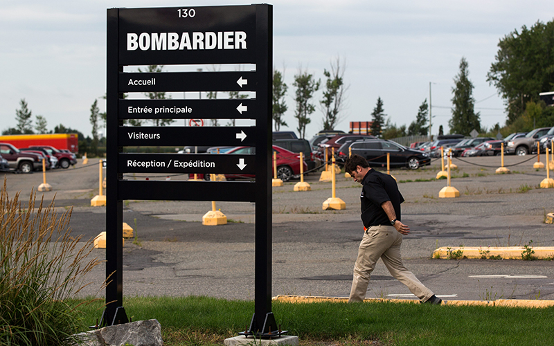 Bombardier factory in La Pocatiere, Que., on Aug. 24, 2016.