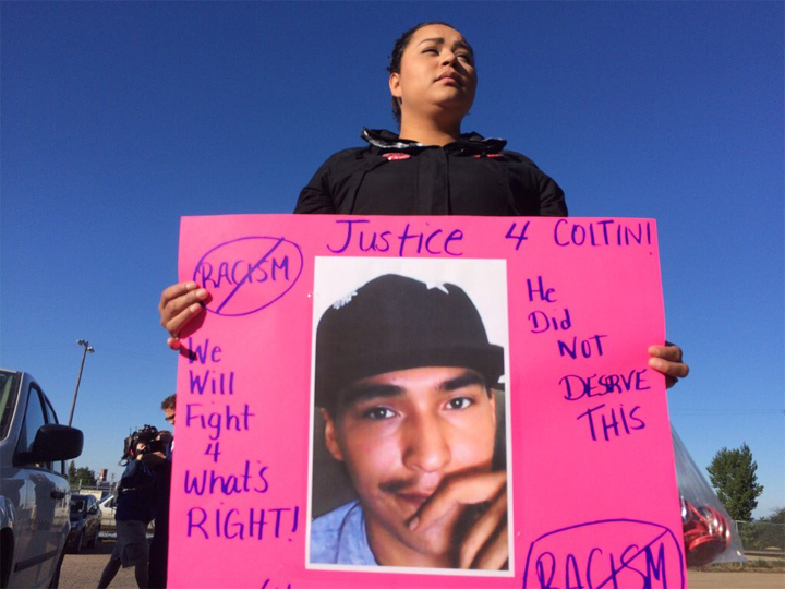 Gerald Stanley pleads not guilty in shooting death of Colten Boushie as hundreds rally outside of North Battleford, Sask., provincial court.