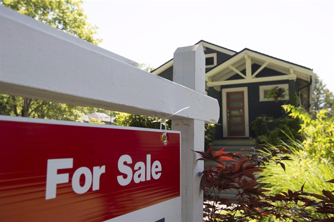 A sold sign is pictured outside a home in Vancouver on June, 28, 2016.