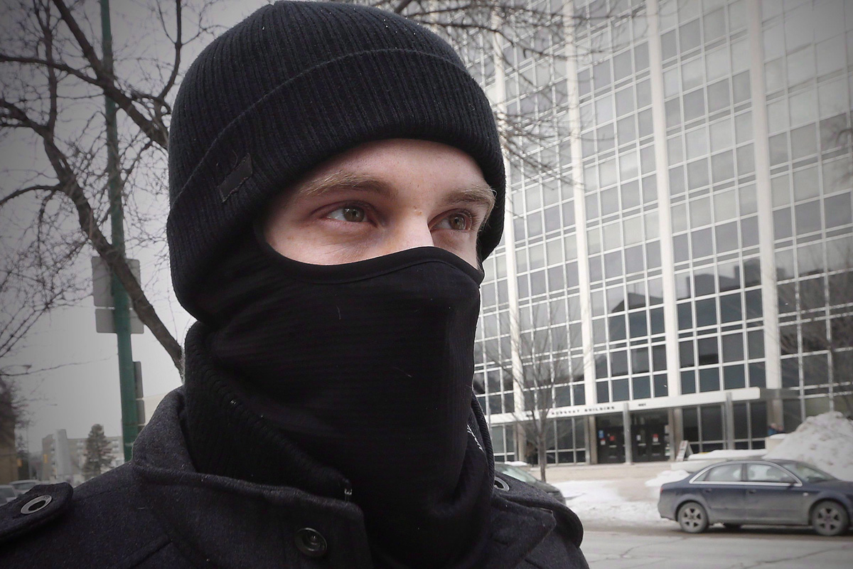 Aaron Driver leaves the Law Courts in Winnipeg, Tuesday, February 2, 2016.