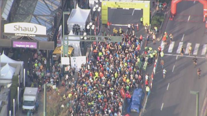 Thousands of people took part in this weekend's Edmonton Marathon. Aug. 21, 2016.