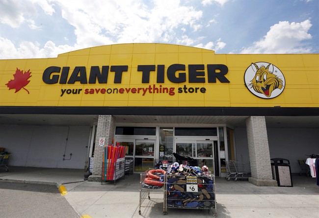 A newly-renovated Giant Tiger store is shown in Ottawa on Thursday August 4, 2016.