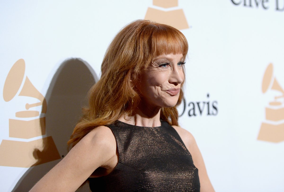 Actress Kathy Griffin attends the 2016 Pre-GRAMMY Gala and Salute to Industry Icons honoring Irving Azoff at The Beverly Hilton Hotel on February 14, 2016 in Beverly Hills, California.